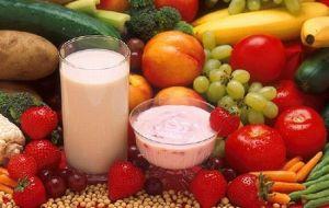A rainbow of healthy snacks